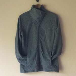 Tuff Athletics gray asymmetrical zip up jacket